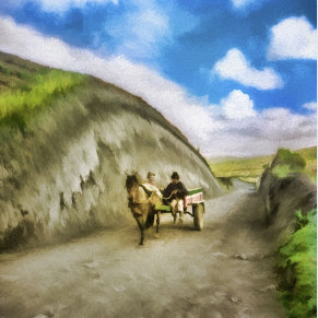 Peasants Traveling by Cart